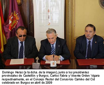 Imagen de Domingo Heras en el Consejo Rector del Consorcio Camino del Cid de Burgos