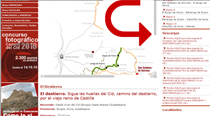 En la zona de descargas de los tramos del Camino del Cid encontrarás la información de los alojamientos