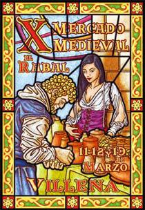 Cartel del Mercado Medieval de Villena, en Alicante