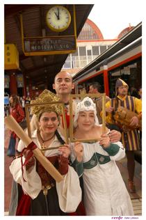 Imagen de los actores del Tren Medieval a Sigüenza