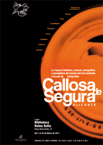 Cartel de la exposición de Callosa de Segura, en Alicante