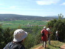 Imagen de una marcha senderista por el Camino del Cid