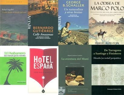 Portadas de los ocho libros finalistas del Premio de Literatura de Viajes Camino del Cid