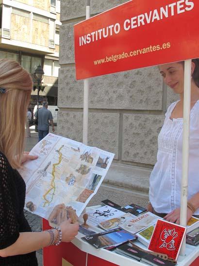 El Instituto Cervantes de Belgrado se volcó en el Camino del Cid durante la celebración del Día E