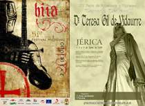Imagen de los carteles del Festival Medieval de Hita y de la Feria de Artesanía y Mercado Medieval de Jérica, en Castellón