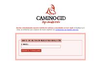 Página para darse de alta en el boletín de noticias del Camino del Cid