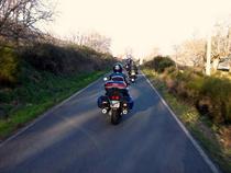 Imagen de una de las marchas organizadas por el motoclub ZonaRoja