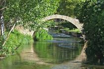 Puente romano sobre el río Jiloca de Calamocha
