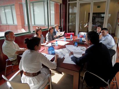 Imagen de la reunión entre el Consorcio Camino del Cid y los grupos de Acción Local de la provincia de Burgos