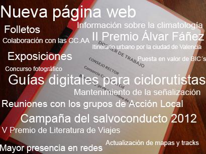 Te presentamos algunas de las actividades que desarrollaremos a lo largo de 2012
