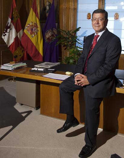 El presidente de la Diputación de Burgos, César Rico que ahora asume la presidencia del Consorcio Camino del Cid