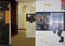 Imagen de la exposición fotográfica itinerante del Camino del Cid que, durante estos días, se puede visitar en el Monasterio de San Agustín