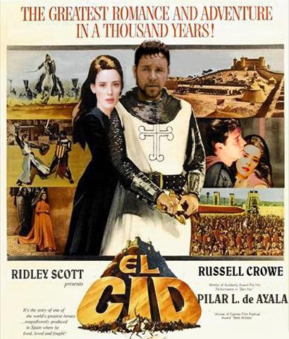 Cartel de la película El Cid con los actores que interpretarán el remake de la película