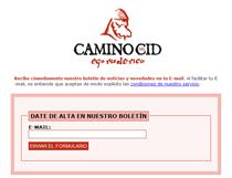 Para darse de alta tan sólo hace falta introducir una dirección de correo electrónico en www.caminodelcid.es