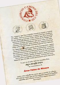 Con cuatro sellos de cada provincia conseguirás el diploma acreditativo del Camino del Cid
