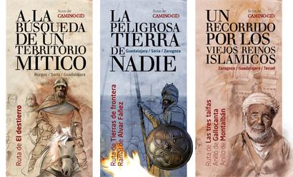 Portadas de los nuevos folletos del Camino del Cid