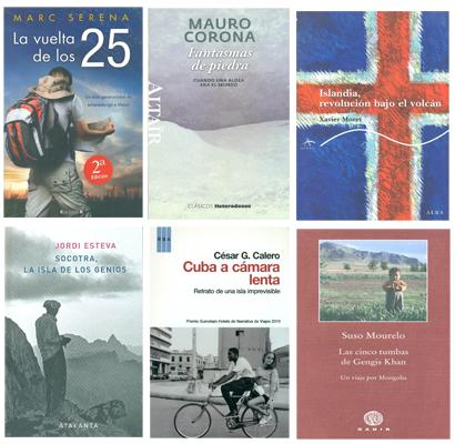 Portadas finalistas del V Premio de Literatura de Viajes Camino del Cid