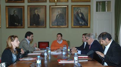 Un momento de la reunión con los grupos de Acción Local de la provincia de Guadalajara