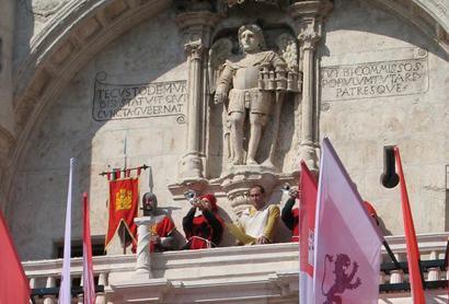 Un momento del pregón del Fin de Semana Cidiano de Burgos del pasado año