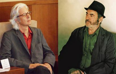 El editor de Atalanta, Jacobo Siruela (izda.) y el autor premiado Jordi Esteva