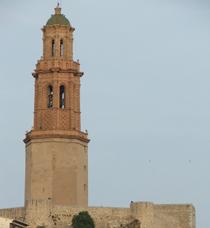 Imagen de la torre campanario de Jérica
