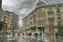 1er premio de la última edición del Concurso Fotográfico Camino del Cid. Valencia bajo la lluvia, José Antonio Gutiérrez Lacambra