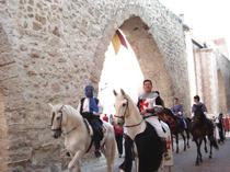 Caballeros medievales en la última edición del Mercado Medieval María de Luna