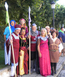 Miembros de la Asociación Cidiana Tierra Pinares que, recientemente, ha concluido el Camino del Cid andando