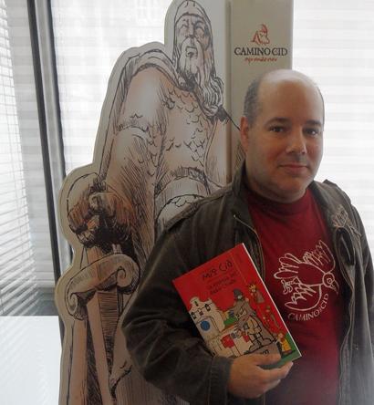 Imagen de Gregorio González Viches, Mirbind, en la oficina del Consorcio Camino del Cid