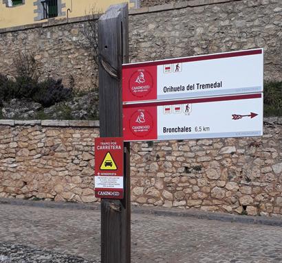 Poste de dirección del Camino del Cid