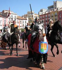 El Cid desfila por las calles de Burgos